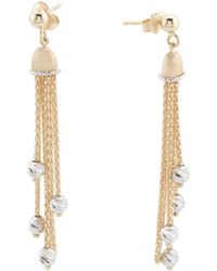 Tj Maxx - Made In Italy 14k Gold Diamond Cut Bead Tassel Earrings - Lyst