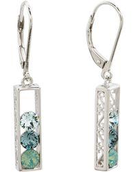 f730a7540 Tj Maxx Sterling Silver Swarovski Crystal Drop Earrings in Metallic - Lyst
