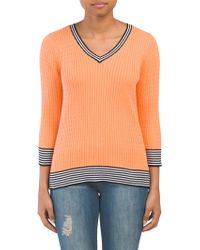 f753a796ea5 Denim & Supply Ralph Lauren Cabled Linen-cotton Sweater in Natural ...