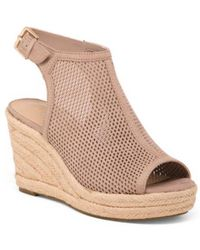 8ebcbc5e64 Lyst - Tj Maxx Slide On Espadrille Wedges in Natural