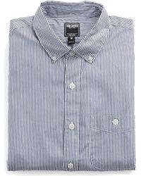 Todd Snyder - Button-down Collar Shirt In Navy Stripe - Lyst