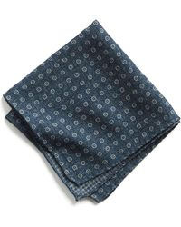 Todd Snyder - Italian Wool Pocket Square In Navy Circle - Lyst