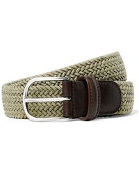 Andersons - Solid Woven Elastic Belt In Tan - Lyst