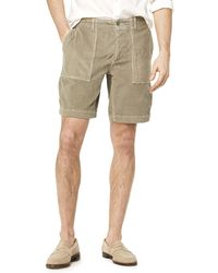 "Todd Snyder - 9"" Stretch Italian Corduroy Camp Short In Thyme - Lyst"