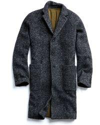 Todd Snyder - Italian Wool Boucle Herringbone Topcoat In Charcoal - Lyst