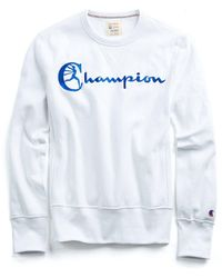 Todd Snyder - Reverse Weave Champion Graphic Sweatshirt In White - Lyst