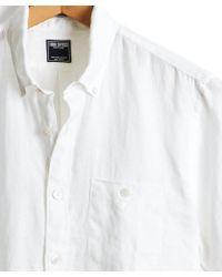 Todd Snyder - Short Sleeve Linen Shirt In White - Lyst