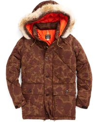 Todd Snyder - Rocky Mountain Featherbed Nylon Quilted Hooded Parka In Camo - Lyst