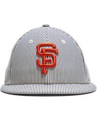 0d595e0ad07 Lyst - NEW ERA HATS Chicago Cubs Cap In Seersucker in Blue for Men