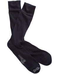 Corgi - Solid Navy Dress Socks - Lyst