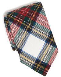 6680cab3ef93 Todd Snyder - Abraham Moon Wool Tartan Tie In White - Lyst