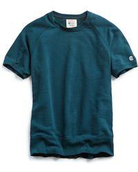 Todd Snyder - Short Sleeve Sweatshirt In Petrol Blue - Lyst