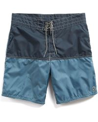 Todd Snyder - Exclusive Birdwell 311 Board Shorts In Mast Blue Colorblock - Lyst