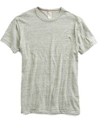 Todd Snyder - Japanese Snow Heather T-shirt In Grey Mix - Lyst