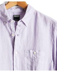 Todd Snyder - Button Down Linen Shirt In Lavender - Lyst