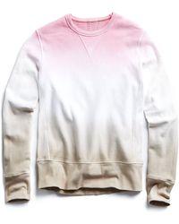 Todd Snyder - Champion Ombre Dip Sweatshirt In Melrose Pink - Lyst