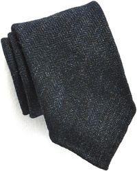 Drake's - Navy Herringbone Tie - Lyst