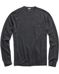 Todd Snyder - Cashmere T-shirt Jumper In Charcoal - Lyst