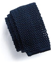 Todd Snyder - Classic Knit Silk Tie In Navy - Lyst