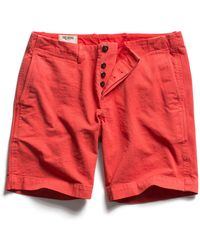 Todd Snyder - Faded Red Officer Chino Short - Lyst