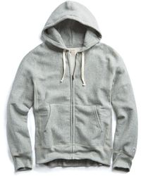 Todd Snyder - Champion Full Zip Hoodie In Light Grey Mix - Lyst