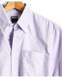 Todd Snyder - Solid Oxford Shirt In Purple - Lyst