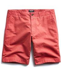 """Todd Snyder - 9"""" Cotton Linen Oxford Surplus Short In Red - Lyst"""