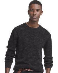 Todd Snyder - Merino Waffle Crewneck Sweater In Black Marl - Lyst