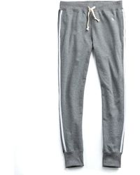 Todd Snyder - Striped Slim Sweatpant In Salt And Pepper - Lyst