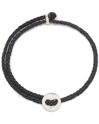 Scosha - Signature 4mm Bracelet In Silver And Black - Lyst