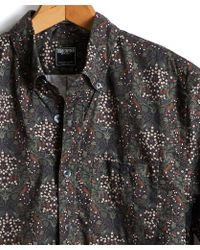 Todd Snyder - Floral Thomas Mason Button Down Shirt In Olive - Lyst