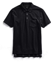 Todd Snyder - Terry Polo In Black - Lyst