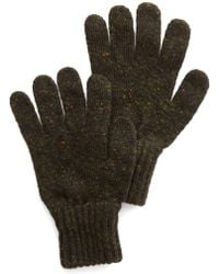 Drake's - Donegal Wool Gloves In Olive - Lyst