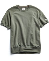 Todd Snyder - Terry Short Sleeve Sweatshirt In Olive Grove - Lyst