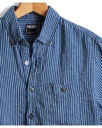 Todd Snyder - Italian Indigo Stripe Popover Shirt - Lyst