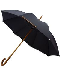 London Undercover - Malacca Handle City Lux Umbrella In Navy - Lyst