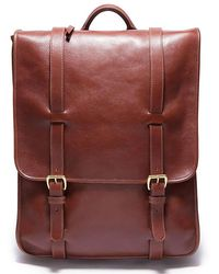 Lotuff Leather - Backpack In Chestnut - Lyst