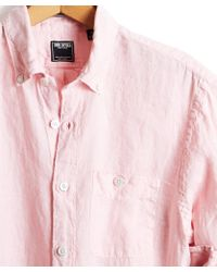 Todd Snyder - Button Down Linen Shirt In Pink - Lyst