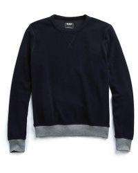 Todd Snyder - Terry Sweatshirt In Navy - Lyst