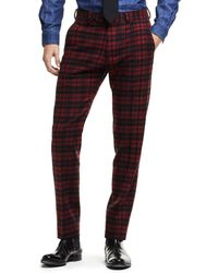 Todd Snyder - Made In Usa Plaid Flannel Suit Trouser In Red - Lyst