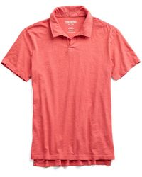 Todd Snyder - Made In L.a. Montauk Polo In Red - Lyst