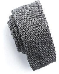 Todd Snyder - Classic Silk Knit Tie In Grey - Lyst