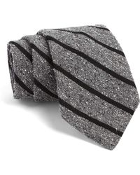 Todd Snyder - Fulton Tie In Grey With Black Stripes - Lyst