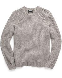 Todd Snyder - Heavy Stitch Crew Jumper In Grey - Lyst