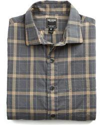 Todd Snyder - Spread Collar Grey Tan Check Shirt - Lyst