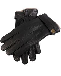 Dents - Dents Gloucester Cashmere Lined Deerskin Gloves In Black - Lyst