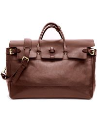 Lotuff Leather - Exclusive + Todd Snyder Day Satchel In Chestnut - Lyst