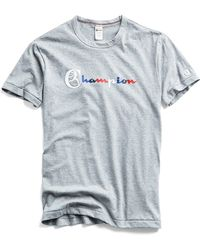 Todd Snyder - Champion Multi Color Tee In Light Grey Mix - Lyst