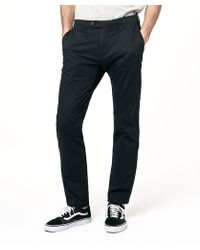 Todd Snyder - Extra Slim Fit Tab Front Stretch Chino In Navy - Lyst