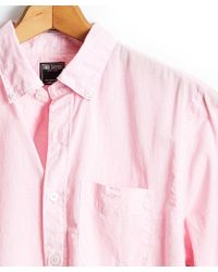 Todd Snyder - Button Down Linen Shirt In Pink - Lyst
